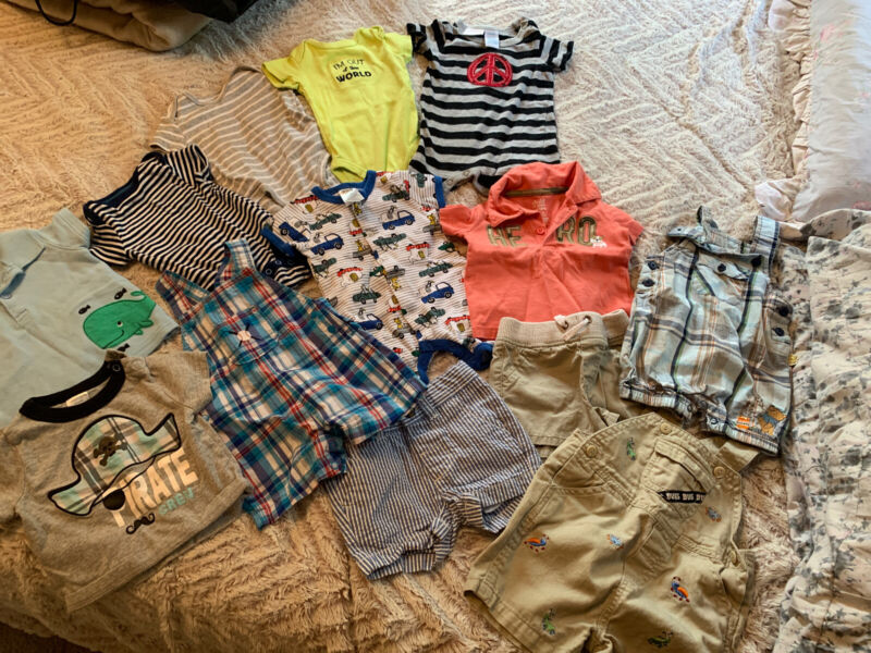 0-3 Month Baby Boy Clothes Lot 13 Pieces