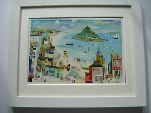 St Michael's Mount to Marazion Cornwall Framed Print  by Cornish Artist Serena
