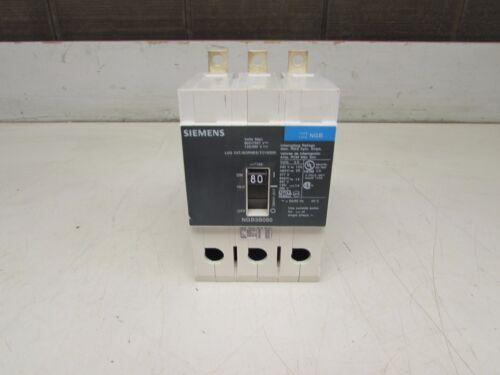 SIEMENS NGB3B080 CIRCUIT BREAKER,   3P, 80AMP / 600V  GOOD TAKEOUT! MAKE OFFER!