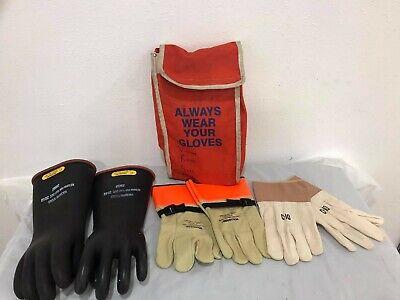 Salisbury Size 11 D120 Class 2 Lineman Electrical Gloves Wvlp-312c10 In Ba