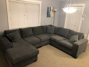 Perfect condition grey sectional