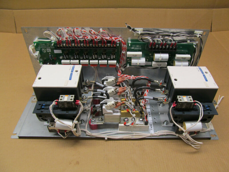 2 TELEMECANIQUE LC1F115 CONTACTORS WITH 02-790802-00 GATE DRIVE AND 02-790806-24