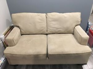 Sofa 2 places beige