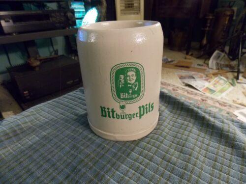 Vintage BITBURGER PILS Stoneware BEER STEIN MUG Germany VG !