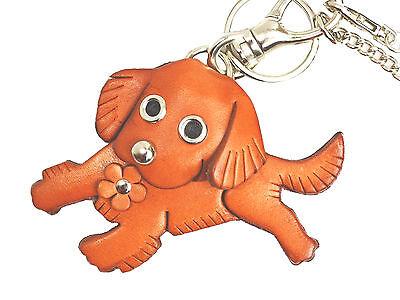 Golden Retriever Handmade 3D Leather Dog/Bag Charm *VANCA* Made in Japan #26009 3d Golden Retriever Charm