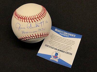 """Jim Plunkett Signed Major League Baseball MLB *Raiders """"Heisman 1970"""" BAS E39729"""