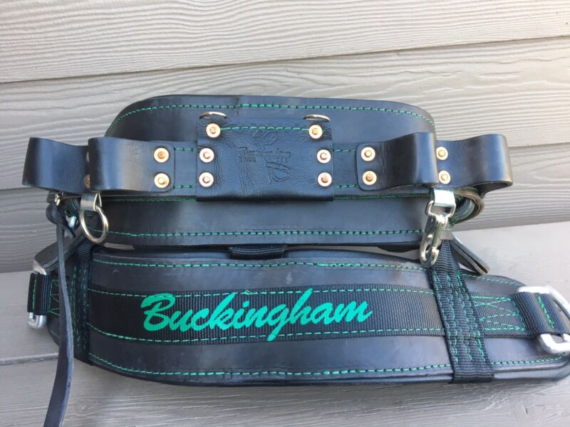 BUCKINGHAM 4300M D24 LINEPRO LINEMAN BODY BELT POLE CLIMBING USED