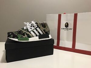 *UA* Adidas NMD R1 BAPE Green US10/44 Queens Park Canning Area Preview