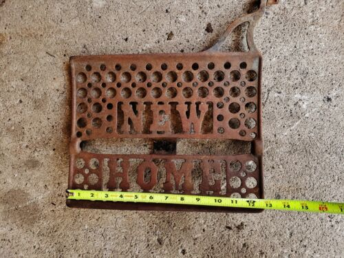 Antique EMBOSSED Cast Iron Sewing Machine FOOT PEDAL Industrial New Home sign