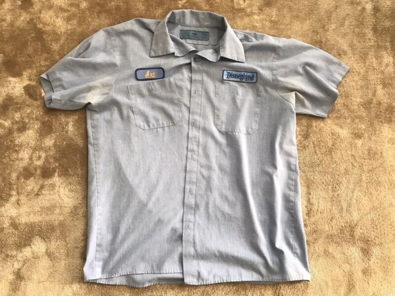 Vintage 90s Disneyland Resort Cast Member Uniform Shirt Large Unisex Art