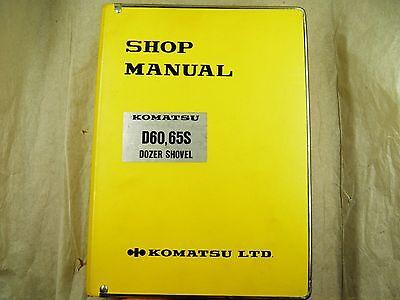 Komatsu D60s-6 D65s-6 Dozer Shovel Service Shop Manual