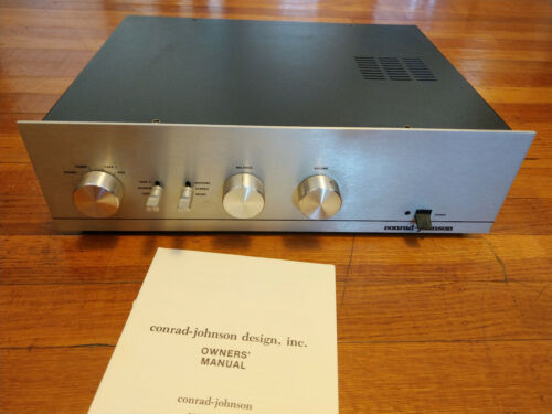 Conrad Johnson PV2-AR Tube Stereo Preamplifier with Phono, Manual - Updated Cap