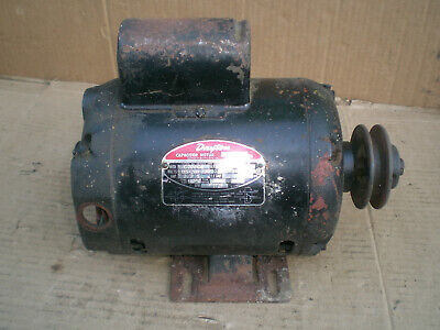 Dayton 12 Hp Capacitor Start Electric Motor With Pulley 115v 1725 Rpm