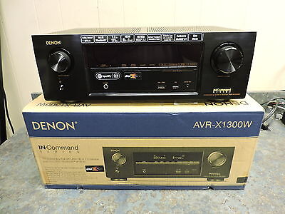 Denon AVR-X1300W 7.2 Ch Full 4K Ultra HD Network A/V Receiver Wi-Fi Bluetooth