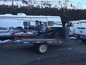 11 foot v-nose sled trailer
