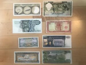 Authentic vintage collectible Cambodian Bills RARE