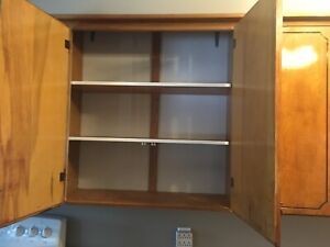Maple kitchen cupboards. Used in good shape