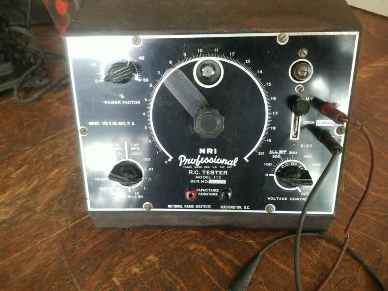 Vintage NRI Model 112 Professional RC Tester Powers Up
