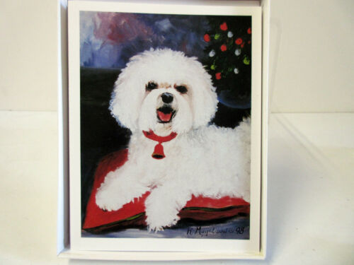 Bichon Frise Note Card Set 6 Greeting Cards w/ Envelopes By Ruth Maystead