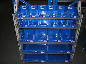 Van Shelving Racking Unit With New Parts Bins Included RRP$495.00
