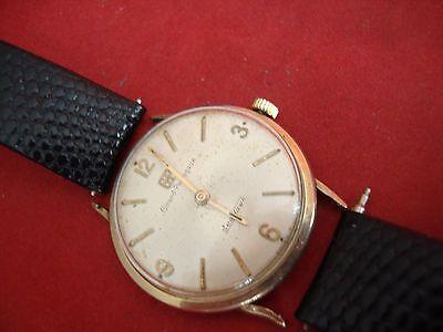 Vintage Muñeca Reloj Girard Perregaux Mar Hawk B2128 10K Oro Campo Estuche...