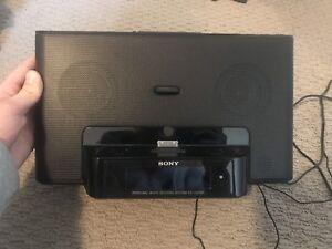 Sony Speaker/ Radio/ Alarm with iPhone/iPod dock