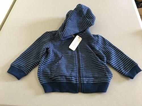 NWT Gymboree Boys Stripe Jacket Navy Blue Hooded many sizes 3-6-12 Months