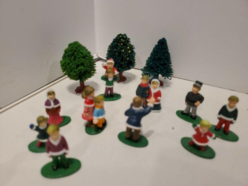 Vintage Christmas Village Accessories People and Tree