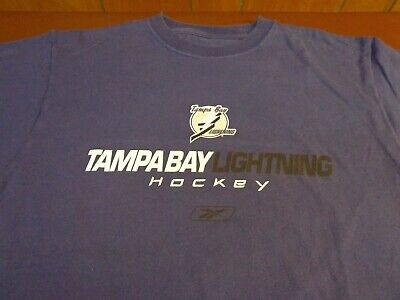 Men's Reebok Tampa Bay Lightning Navy Blue Hockey Club T Shirt  Medium  M4 - Tampa Bay Lightning Hockey Club