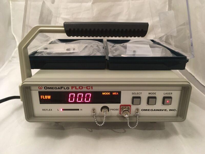 Omegaflo FLO-C1 Omegawave Laser Tissue Blood Flow Meter c/w EZ Fine Probe & GJ