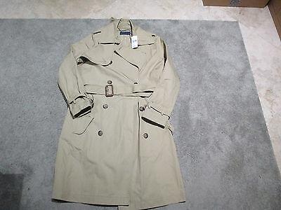 NEW Ralph Lauren Polo Trench Coat Womens Size 8 Brown Tan Over Coat Ladies $498