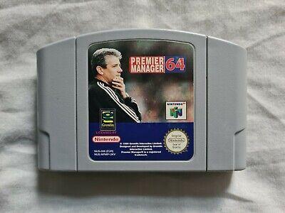 PREMIER MANAGER 64 Nintendo 64 N64 Game PAL VERSION
