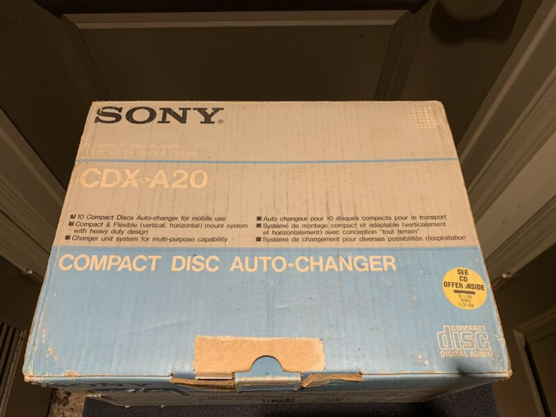 Vintage Sony CDX-A20 10 Disc CD Changer - Compact Disc Auto Changer