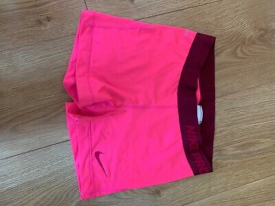 nike pro shorts in pink. size small. Dri-fit