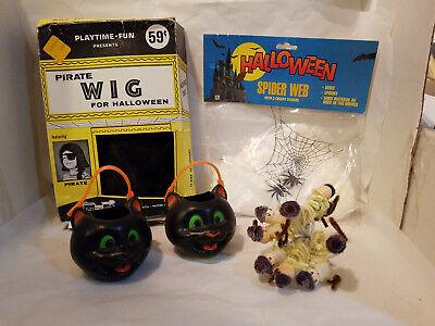 Vintage Assorted Halloween Decorating Items