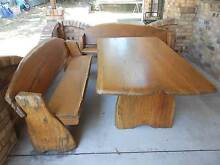Five Piece Outdoor Slab Timber Furniture Capalaba Brisbane South East Preview