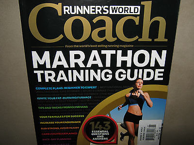 (NEW! Runner's World Coach MARATHON TRAINING GUIDE Complete Plan Race Day Plannin)