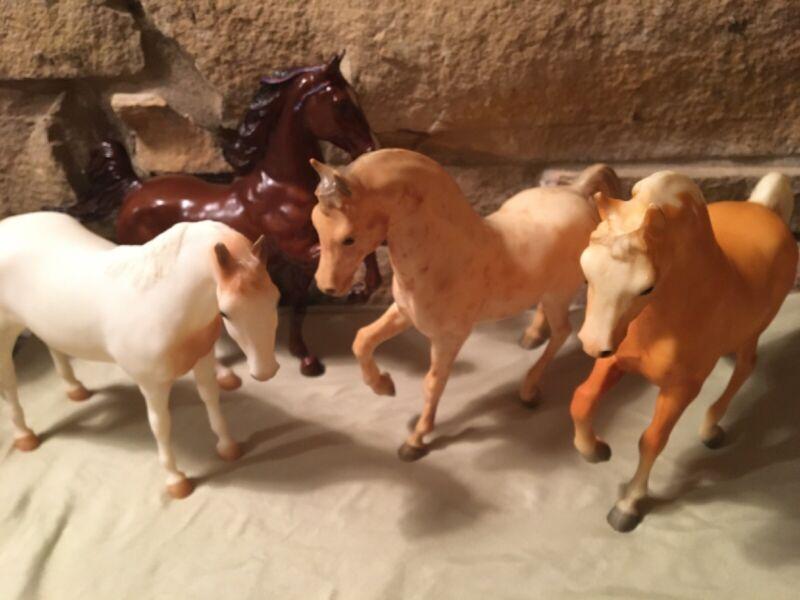 "Plot Of 4 Breyer Horses Large 9"" Tall"