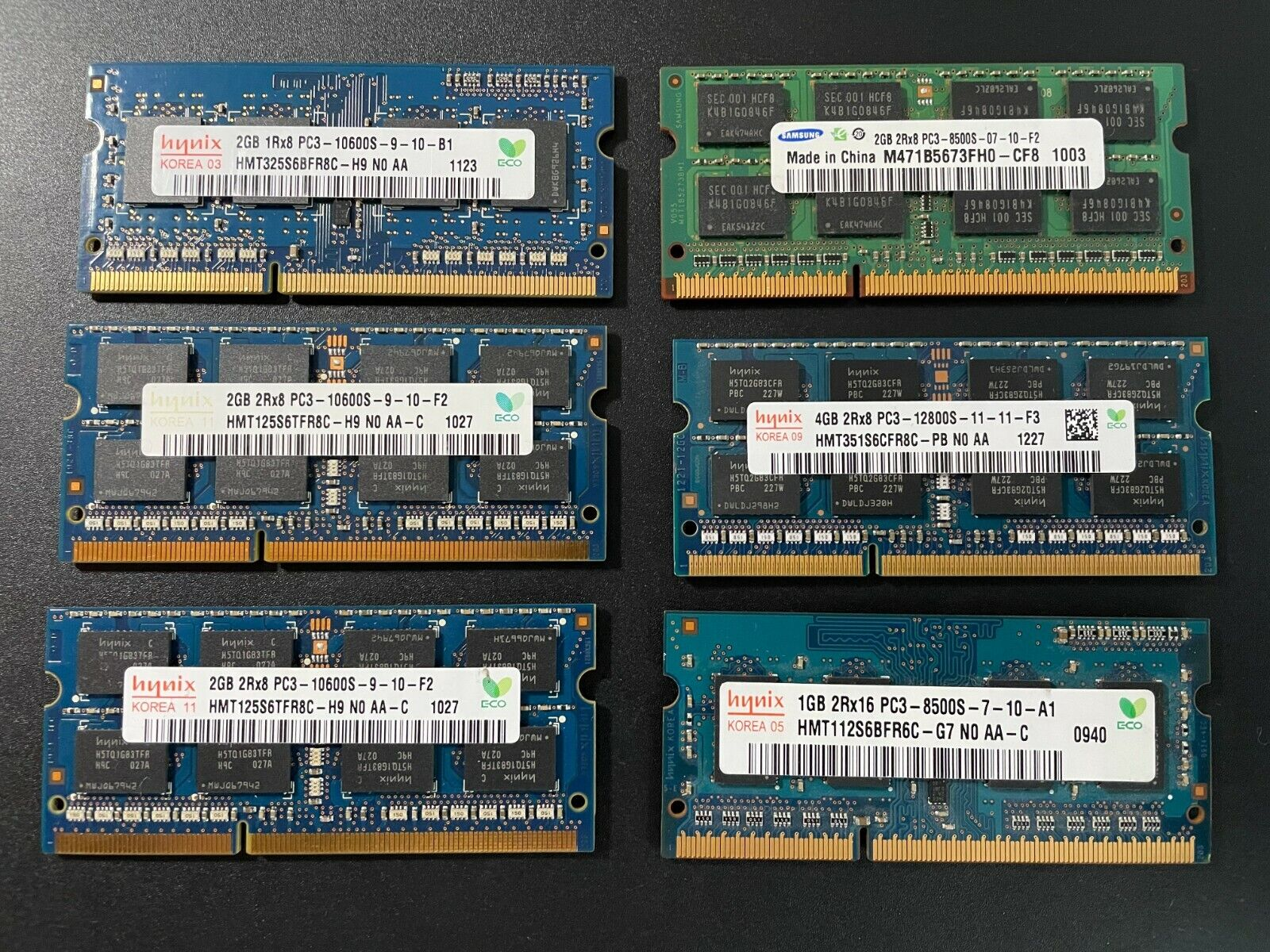 Lot mémoire ram ddr3 sodimm pc portable
