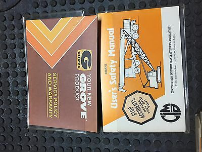 Grove Crane Users Safety Manual And Service Policy Warranty 1980s