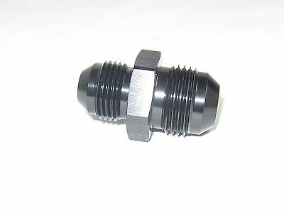 10 an Male to 8 an male flare reducer fitting black anodized aluminum
