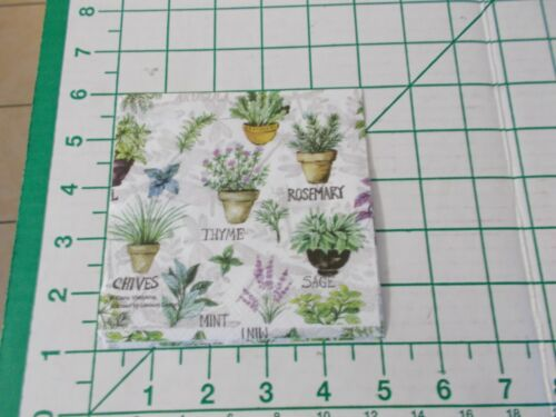 """Two Decorative Cocktail Napkins for Decoupage """"Herbs"""""""