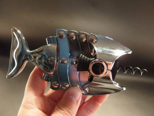 Antique Vintage Style Fish Shaped Wine Bottle Corkscrew Opener