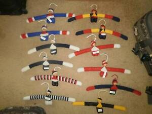 AFL Footy coathangers - hand knitted craft Glen Waverley Monash Area Preview