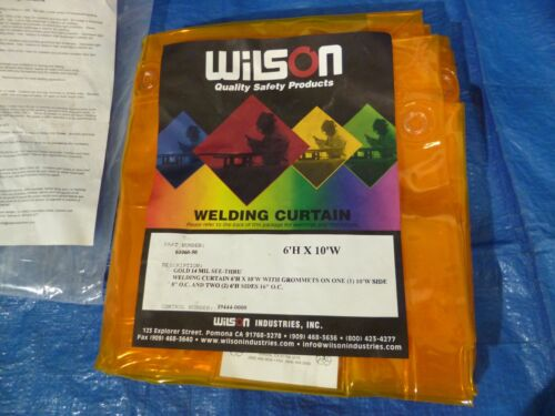WILSON GOLD WELDING WELD CURTAIN 14 MIL. SEE THRU 6X10   #61060-50  OR  #36281