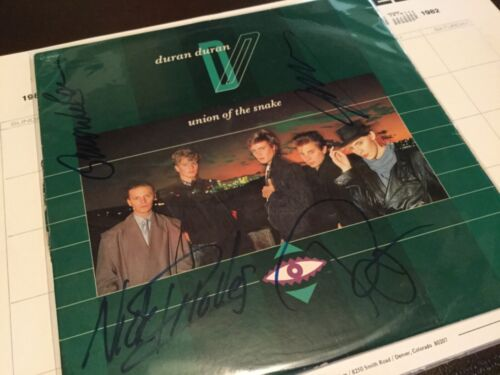 Duran Duran Union of the Snake signed 12in record 1983