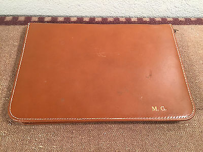 vintage 60's genuine leather portfolio primitive daytimer