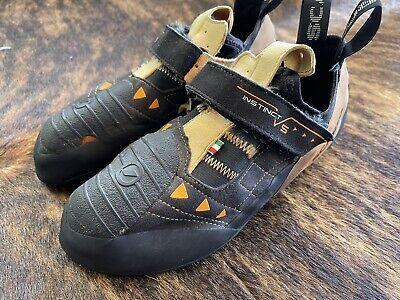 SCARPA Instinct Climbing Shoe, Black/Orange, 42.5 EU/9 D US USED