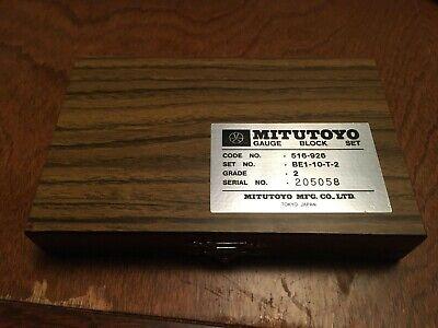 Mitutoyo 5-piece Gauge Block Set Grade 2 Be1-10-t-2 Excellent Condition