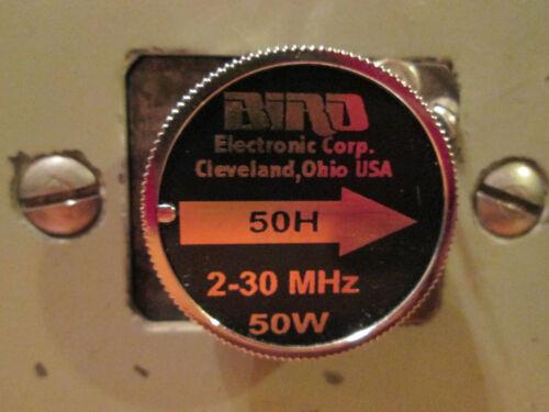 Bird 50H 50 Watt HF Element Thruline 43 Wattmeter